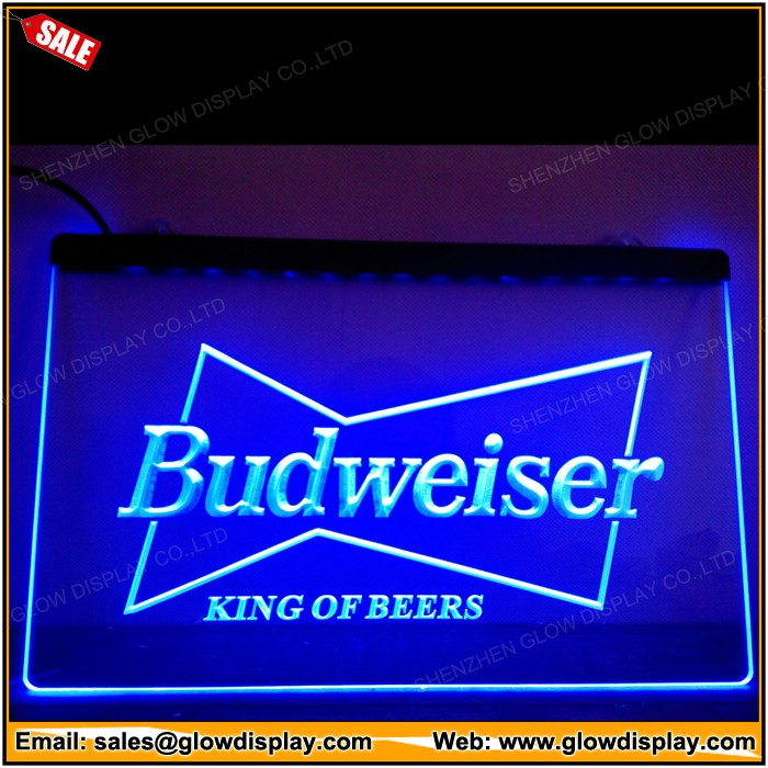 Budweiser King Beer Bar Pub Club LED Neon Light Sign