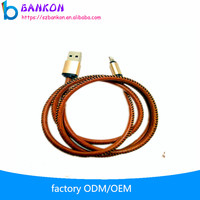 Lowest MOQ New Style Leather Weaving Usb Data Cable High Speed Charging Mobile Phone Use for iphone Data Cables