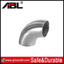 stainless steel 316 25.4 mm bathroom elbow