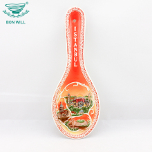 Home decoration table ware hand painted restaurant ceramic spoon