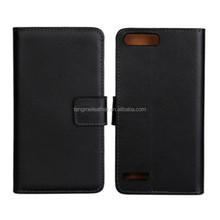 Magnetic PU Flip Real Leather Slot Wallet Cover Stand Case For Huawei Ascend G6