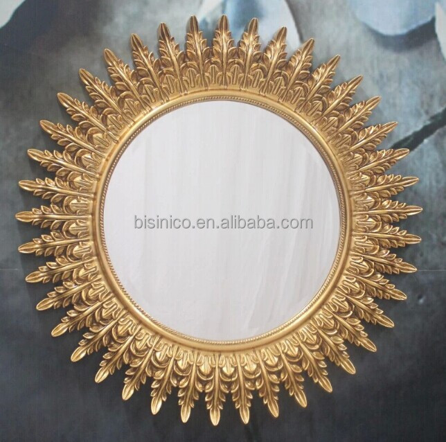 Klassieke ontwerp engelenvleugels muur opknoping spiegel luxe gouden schilderen ronde - Afbeelding van huisdecoratie ...
