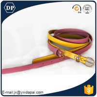 New style innovative gold colorful pu women belt