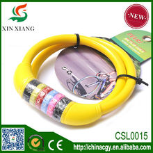 alibaba wholesale colorful bicycle lock, coded lock,bike lock