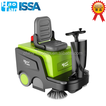 HT-100 New developed ride-on sweeper machine road floor cleaning machine