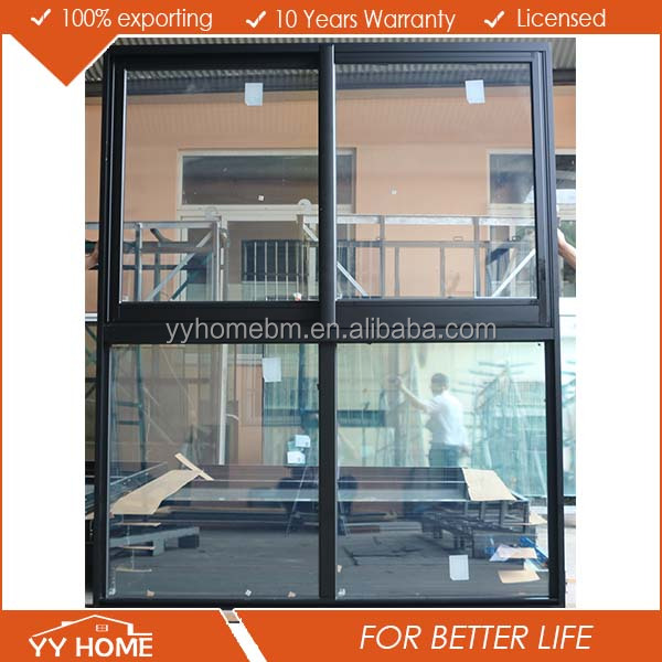 As2047 High Quality Aluminium Frame Glass Window Sliding