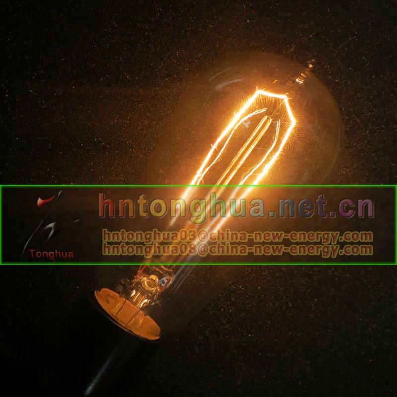 Vintage edison lampadina, filamento di carbonio edison lampadine st64-Incande...