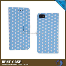Mobile Phone accessories custom design pu leather case for blackberry z10 wallet cover
