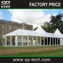 Guangzhou aluminum 9x15m clearspan marquee with 5x5m entrance pagoda