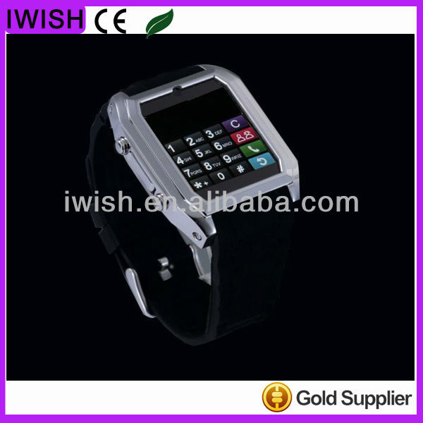 brand new kids cell phone watch thin stainless steel shell watch mobile phone,