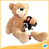 big soft plush toy,christmas wholesale giant brown skin teddy bear 340CM