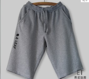 2014 basic Man Sport Terry Fleece Short Pants with drawing string & print