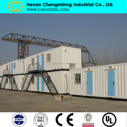 Malaysia labor camp project High Class Two Floor Prefabricated Container Houses for Workers Accommodation