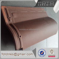 Brown villa roof clay ceramic tile made in china free sample