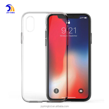 Transparent soft tpu case for IPhone x, Silicon Clear Back Cover For Iphone 8 Plus case