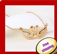 xuping elegant 18K gold color Fake gold chains Statement necklace (41625)