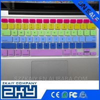 Six color printing custom silicone keyboard cover for macbook air