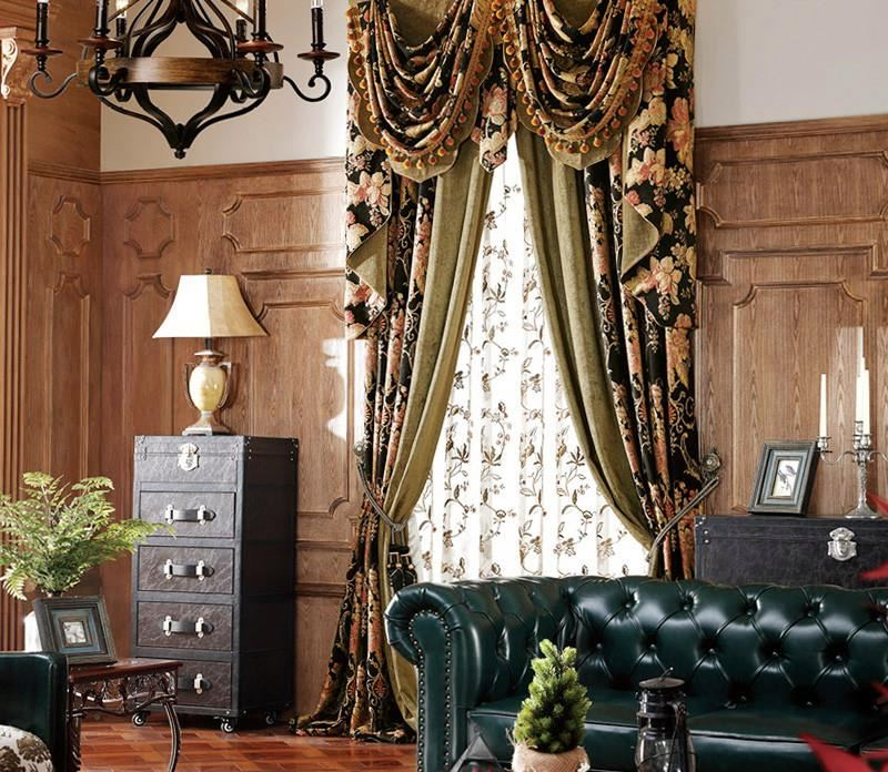 chenille curtain blackout thicken window curains indian curtain fabric