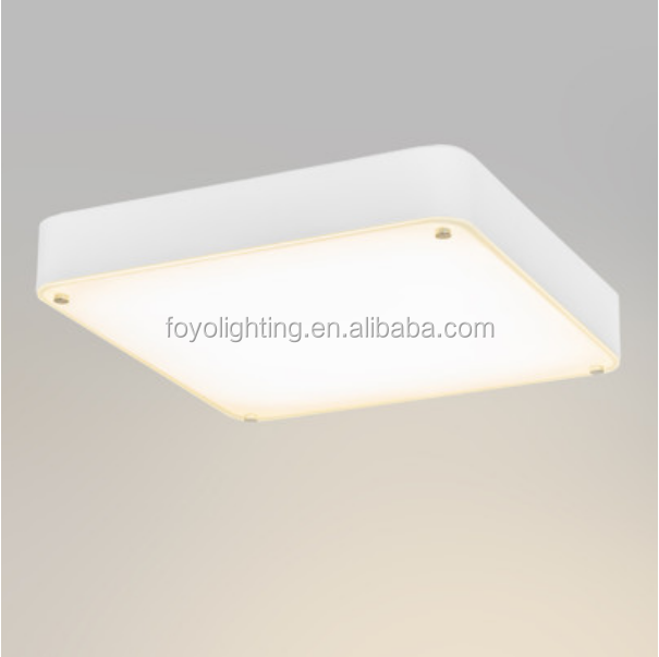 High Quality Modern 45cm Square Glass LED Dimmable 26W 1600LM ceiling light /plafon for indoor lighting