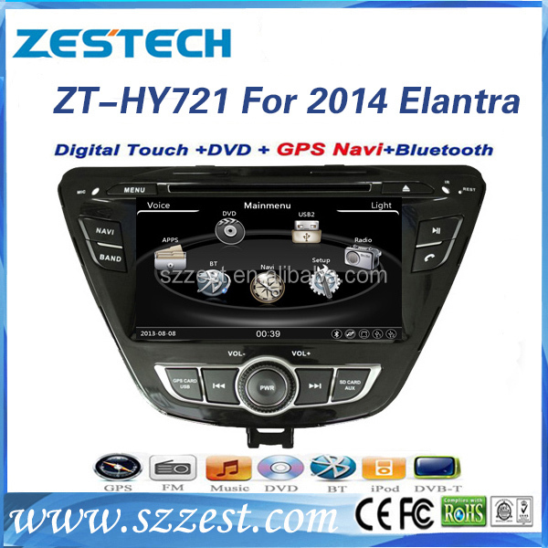 For hyundai elantra 2014 2015 accessories touch screen car dvd gps