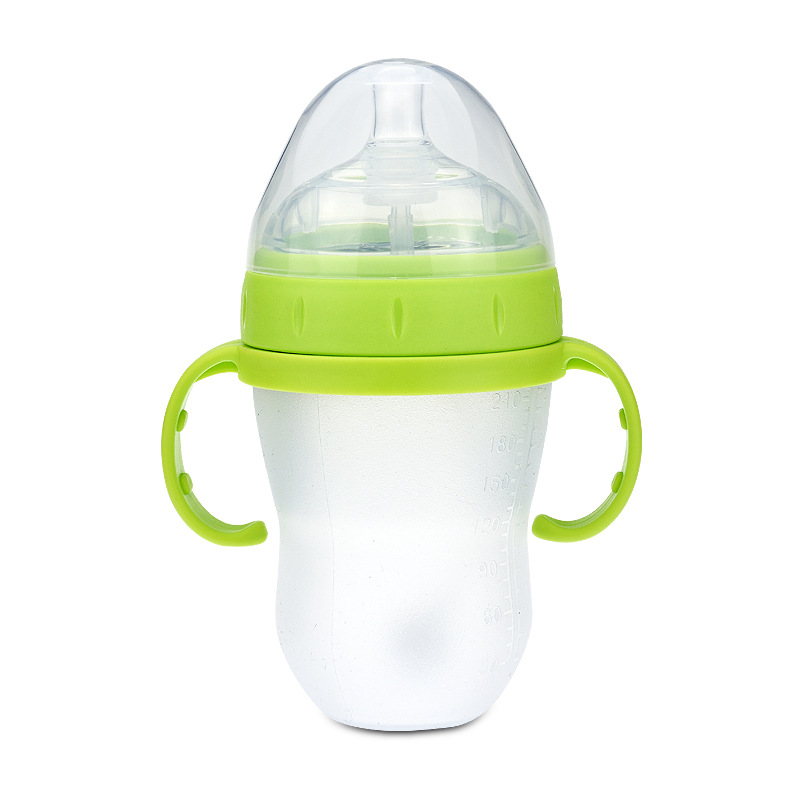 ODM OEM customized silicone rubber soft safety baby bottle