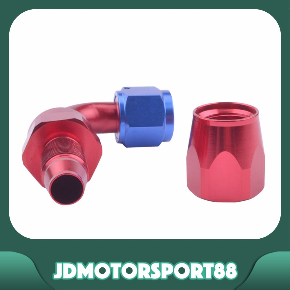 JDMotorsport88 90 Degree Blue And Red AN8 8AN Swivel Hose Ends