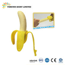 Cheap Bulk Spielzeug Small Capsule Toy Mini Food Fruit Stretchy Soft TPR Plastic Banana for Vending Machine