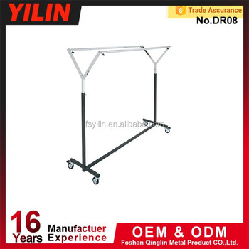 New products metal display rack/hanging clothes rack/clothing display rack