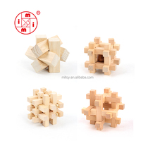 ICTI factory certified IQ Brain Teaser 3D wooden puzzle