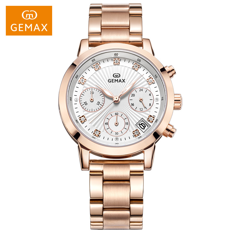 2017 amazing attractive hot selling women watch chronograph