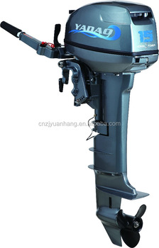 Long shaft 15hp 2 stroke outboard motor outboard engine for Long shaft trolling motor for sale