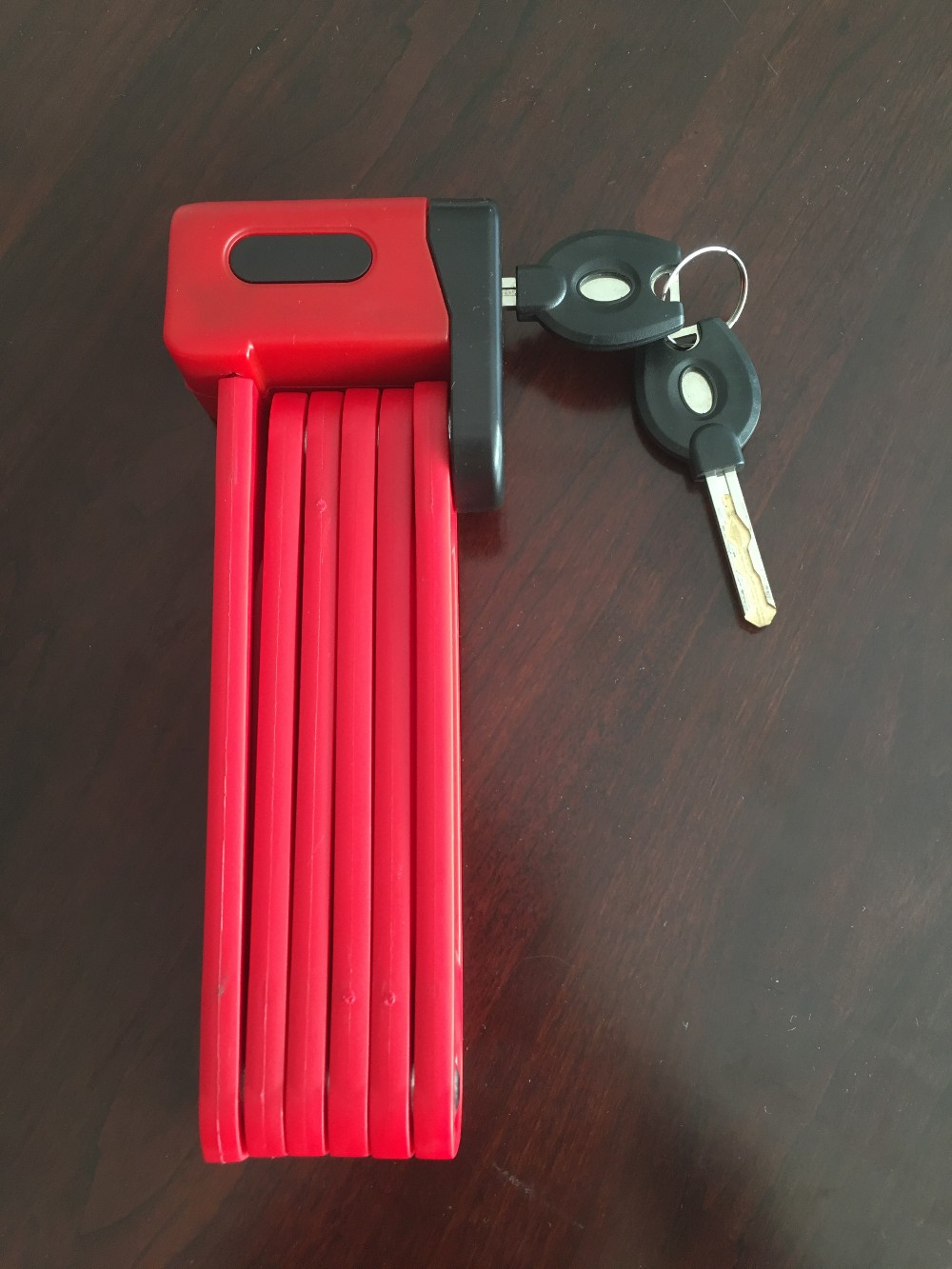 Folding bike lock with key