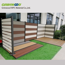 wood plastic composite fencing system for outdoor