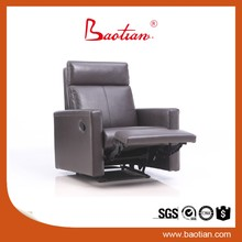 baotian furniture genuine top grain leather sofa recliner chair