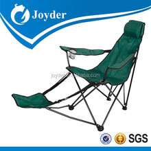 Outdoor Furniture Good Quality Canvas Cheap Folding Collapsible Camping Chair with Footrest