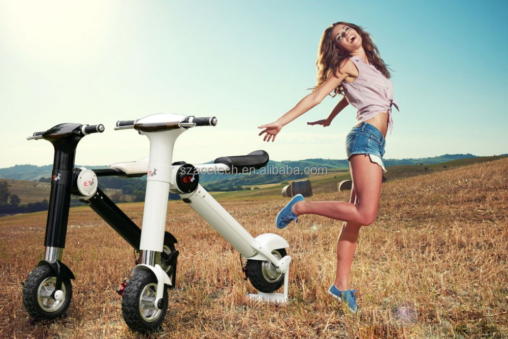 New hot 50cc motorcycle 350w with aluminium Lithium battery 3 hours charging folding electric scooter city wheel