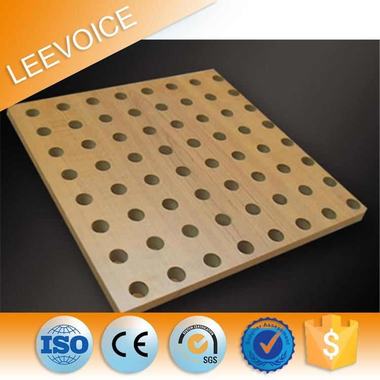 mdf slotted sound absorbing panels perforated decorative interior wall paneling