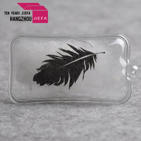 2017 New Arrival clothing alarm tag metal square feather tag/newly pvc down feather patch/label/tags