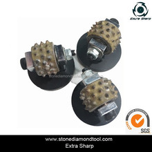 Coatings Removing Bush Hammer Roller Profile Wheel with Suppot for Granite Concrete Grinding Tools