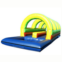 high quality Double Lane Rainbow inflatable water slide/ waterslide/ wet dry slide for party