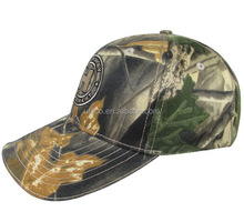 2015 high quality wholesale 100% brushed cotton custom embroidery logo 6 panel sport cap in camouflage