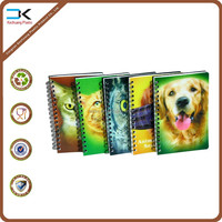 Pets artwork pp cover metal spiral notebook
