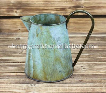 Countryside style metal Garden waterproof Watering Can for garden decor
