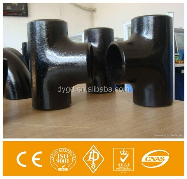 black tee joint iron pipe tube butt welded fittings from bend of the township