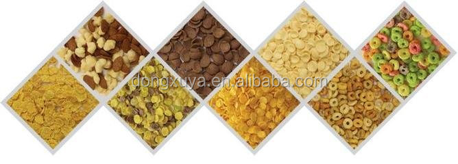 Fully Automatic Corn Flakes Making Machine Breakfast Cereals Making Machine