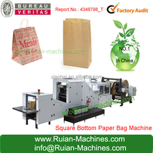 100% New Printed Brown Kraft Paper handle shopping bag Paper Bag Machine