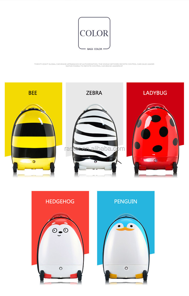 RASTAR novelty design remote control Travel trolley Baby suitcase luggage bag for children