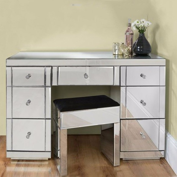 furniture vanity Console Table with mirror in living room