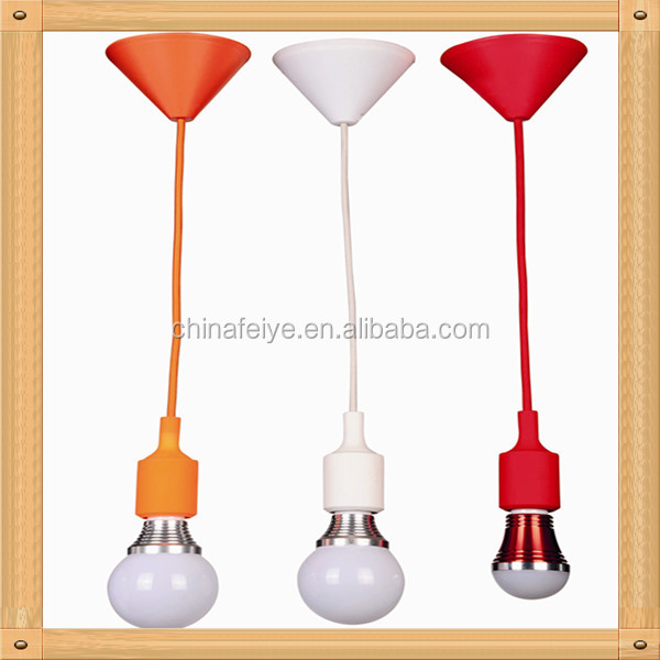 Any Color Custom Pendant Lighting- Bare Bulb Edison Lamp Modern Industrial Chandelier