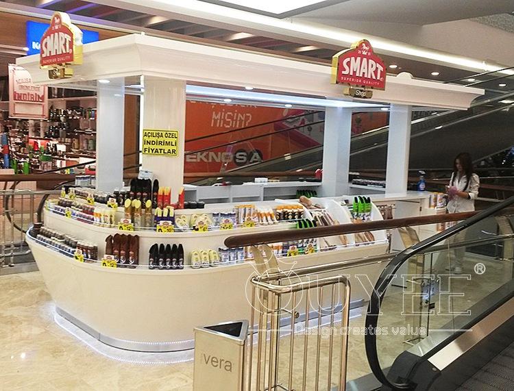 Customized food kiosk design ideas designing manufacturer for Indoor food kiosk design